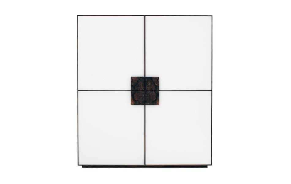 Scholtissek quadratischer Schrank FARN 4-türig