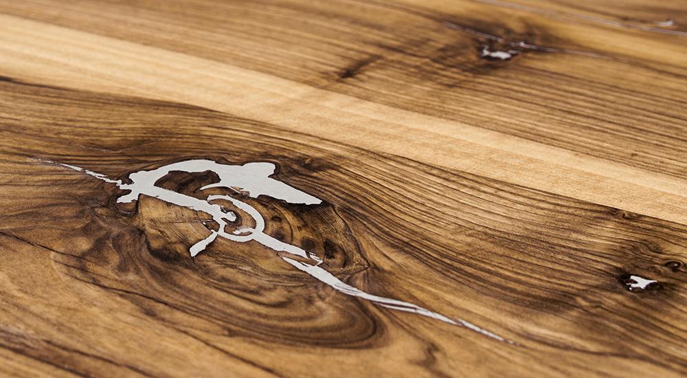 Glanzpunkte - mit Zinn oder Kunstharz ausgegossene Äste | Scholtissek Manufaktur