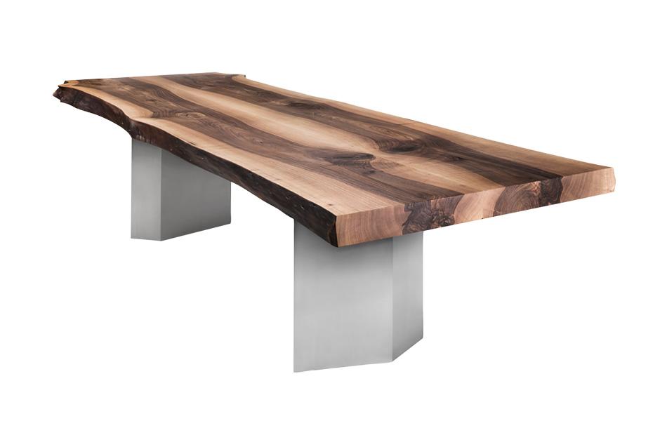 Scholtissek Tisch mit gekanteten Edelstahlwangen
